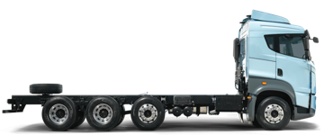 8x2 Light blue truck picture